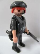 Playmobil City Action: Armed response police figure with guns (red hair) NEW