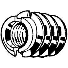Zoro Selection Einschraubmuttern M4 x 8 Stahl DIN 7965 Schlitz 100 Stk