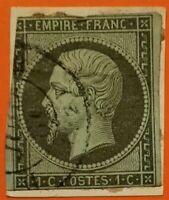FRANCE : EMPIRE NON DENTELE N° 11 (TB - 866-2) OBLITER. Cad Rare Paris Cote205 €