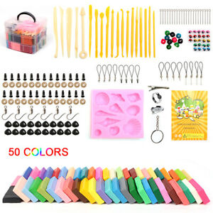 50 Color Craft Polymer Clay Shuttle Modelling Moulding DIY Sculpey Fimo Block