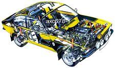 Opel Kadett C GT/E Rallye / 1976 - Bild Schnittzeichnung  a