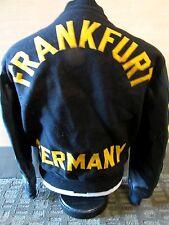 Vintage FRANKFURT GERMANY LETTERMAN'S JACKET 79 German 1979