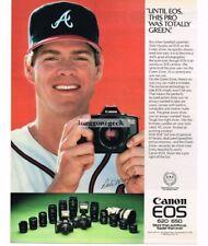 1988 Canon EOS 650 35mm Camera Dale Murphy Atlanta Braves Vtg Print Ad