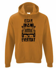 "Mens Land Rover "" Escape the Everyday "" Defender Hoodie Hoody Landrover 90 110"