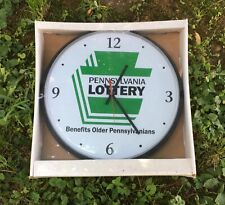 """New in Sealed Packaging Pennsylvania Lottery 12"""" Battery Powered Wall Clock"""