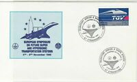 France 1989 European Supersonic Transporter Systems Stamps Cover ref R18686