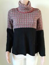 Style& Co Sweater women. Red combo. Pullover. NEW. Knitted. Long sleeve. S8