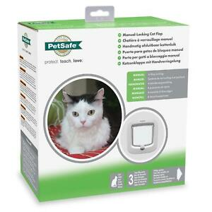 PetSafe Staywell Cat Flap Door w/ Manual 4-Way Locking, Energy Efficient - White