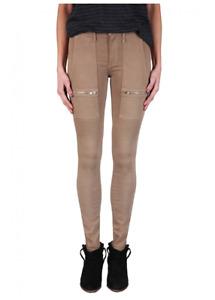 BLACK ORCHID Mid Rise Super Skinny Cargo Zip Skinny Jeans Wayward Brown 26 #440
