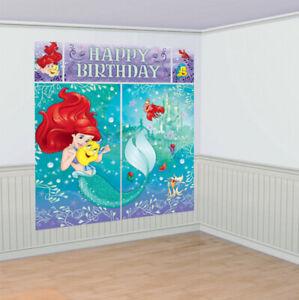 Disney Princess Party Supplies Ariel Dream Big Scene Setter Decoration (5 Pcs)