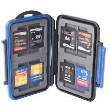 Memory Hard Case Card Holder for 8x CF 4 SD SDHC Card Waterproof Anti-shock Drop
