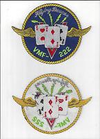 JACKET PATCH-UNITED MARINE CORPS MARINE FIGHTING SQUADRON 222 FLYING DEUCES