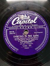 78 giri- DANCING IN THE DARK / DRAGNET-   RAY ANTHONY CAP 89  2562