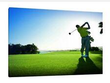Golf 30x20 pulgadas lienzo-Impresión Pared Arte enmarcado cuadro