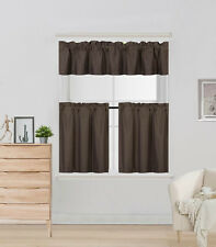 """3PC SET ROOM DARKENING WINDOW CURTAIN SMALL LINED PANELS IN 24"""" LENGHT (K4)"""