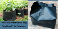 G. 5 pcs Nursery Plant Grow Bag Seedling Pots Container, Plastic planting Bags