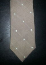 Blair Tie Polyester Circle Dots Design Tan Lt Blue Yellow NIB t1266