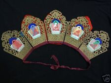 VINTAGE  MONGOLIAN BUDDHIST  LAMA'S CEREMONIAL CROWN (Paper Mache)