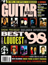 Guitar World Magazine February 1998 KISS, Joe Satriani, Ozzy, Pink Floyd, Bush