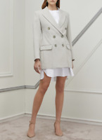 ISABEL MARANT Kleigh Double-Breasted Blazer In Light Gray Size 38 Orig $1070 NWT