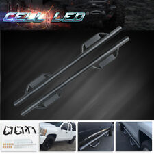 For 07-18 Chevy Silverado DOUBLE/EXT Cab Nerf Bars Side Steps Running Boards BLK
