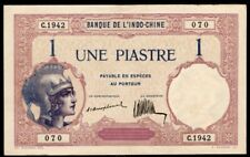 French_Indo-China bank note, 1921-1926, Une Piastre, Pick #48a, Very fine.