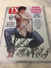 KATIE COURIC signed autographed TV guide From The 90s.   Unique!