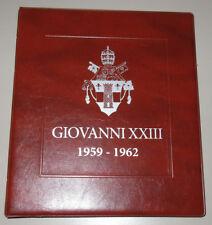 GIOVANNI XXIII (1958-63) raccoglitore ALBUM per MONETE del VATICANO masterphil
