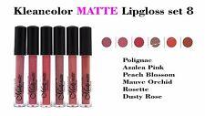 6 PCs Kleancolor Madly MATTE Lipgloss - Bold & Vivid Color Matte Lipgloss Set 8
