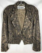 Silverado New Mexico Black & Brown Woven Velour Jacket - Size L