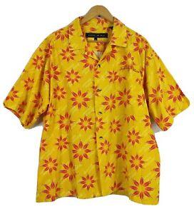 Johnny Blaze Men's Button Front Shirt Size XL VGC Casual Cotton SS VGC