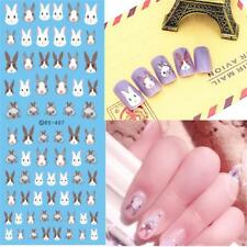 Animal Sticker Different Style Cute Rabbit Nail Decoration Water Decal Paper