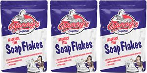 3x Grannys Soap Flakes No Allergens Fragrance Free Vegan Friendly 425g