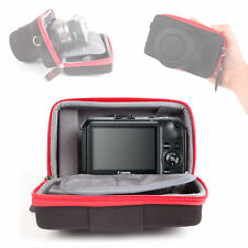 Black and Red Rigid Protective Carry Case for Canon EOS M with Elastic Belt Loop