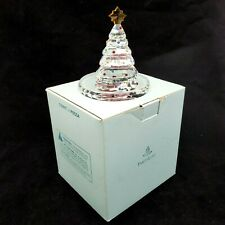 PartyLite Sparkle Lite Crystal Christmas Tree Tealight Holder In Box P9086