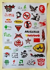 "Sticker Decal Aufkleber Set ""Asia Mix""- Modellbau, Stickerbomb"