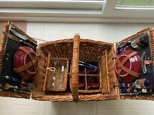 More details for traditional 4 piece set wicker picnic basket - christmas present?