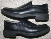 Deer Stags Black Leather Lined Men's Dress Shoes 7.5 Seven 1/2 Loafers Solid Man