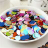 50Pcs/Set DIY 20mm Round Loose Sequins Paillettes Sewing For Bag Clothing Craft