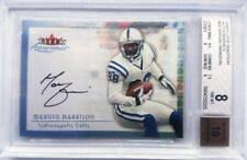 MARVIN HARRISON SIGNED FLEER AUTOGRAPHICS CERTIFIED AUTO CARD~BECKETT 8 NM-MT