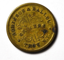 1863 Robinson Ballou Redeemable at Our Store Troy Ny F-890E Civil War Token