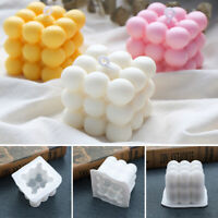 DIY Cube Silicone Soap Candle Mold 3D Handmade Craft US Stock!