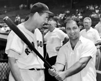 Boston Red Sox TED WILLIAMS w/ Rocky Marciano 8x10 Photo Print Baseball Poster
