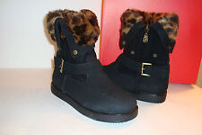 G By Guess Womens NWB Amaze Black Fabric Boots Shoes 5.5 MED NEW