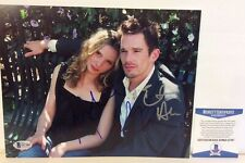Ethan Hawke + Julie Delpy Before Sunset Sunrise Signed 8X10 Photo Beckett Bas