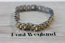 PAUL WEYLAND BRACCIALE CUFF BRACELET ROLEX PRESIDENT ACCIAIO ORO STEEL 316L GOLD