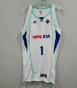 Rare 2010 Adidas WNBA New York Liberty Toys R US 1 Game Issued Jersey Womens L