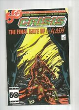 Crisis On Infinite Earths #8  GEORGE PEREZ  Death of Flash, 8.5 VF+, DC