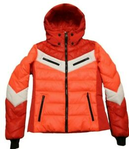 Bogner Fire+Ice Ladies Farina D Ski Jacket Red White Orange Size 40 M L