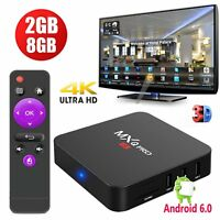 2018 MXQ PRO 2+8GB Android 6.0 Quad core 4K H.265 Smart TV BOX Media player WIFI